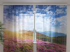 Sifonki-kuvaverho FLOWERS 3, 240x220 cm ED-100002