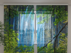 Sifonki-kuvaverho WATERFALL BEHIND THE WINDOW 240x220 cm ED-100037