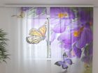 Sifonki-kuvaverho CROCUSES AND BUTTERFLIES 240x220 cm ED-100128