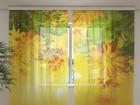 Sifonki-kuvaverho AUTUMN FLOWERS 240x220 cm ED-100134