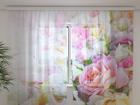 Sifonki-kuvaverho ROSES AND PETALS 240x220 cm ED-100159