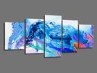 Viisiosainen seinätaulu ABSTRAKT 200x100 cm ED-101088