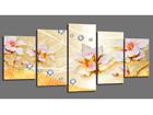 Viisiosainen seinätaulu FLOWERS 200x100 cm ED-101092