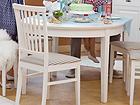 Jatkettava ruokapöytä FAMILY 105x165-215 cm, valkoinen