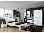 Sänky HEAVEN 180x200 cm, vaatekaappi, 2 yöpöytää SM-102867