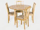 Klaffipöytä MONACO+4 tuolia MILANO, vaalea tammi GO-106034