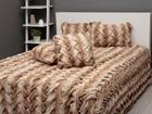 Sängynpeitto+2 tyynynpäällistä STIKKET TAUPE 150x200 cm AÄ-107560