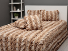 Sängynpeitto+2 tyynynpäällistä STIKKET TAUPE 220x240 cm AÄ-107561