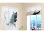 Puolipimentävä laskosverho AFRICAN HORSES 1 60x60 cm ED-108444