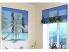 Puolipimentävä laskosverho AMAZING BEACH 120x140 cm