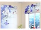 Puolipimentävä laskosverho BLUE IRISES 60x60 cm ED-108531