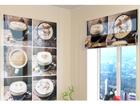 Puoliläpinäkyvä laskosverho COFFEE SMILE 120x140 cm