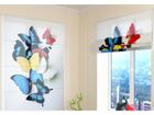 Puolipimentävä laskosverho COLORFUL BUTTERFLIES 120x140 cm