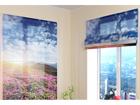 Puolipimentävä laskosverho FLOWERS AND MOUNTAINS 2 60x60 cm ED-108681