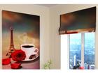 Pimentävä laskosverho FRENCH COFFEE 60x60 cm ED-108701