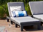 Aurinkotuoli DAYTONA tyynyllä, graphite TE-108760