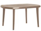 Muovinen puutarhapöytä ELISE, cappuccino TE-109218