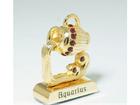Kullattu koriste-esine Swarovski kristalleilla vesimies MO-109827