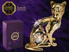 Koriste-esine Swarovski kristalleilla KISSA MO-109837