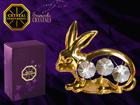 Koriste-esine dekoratiivi kristalleilla JÄNIS MO-109869