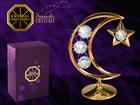 Koriste-esine dekoratiivi kristalleilla KUU JA TÄHTI MO-109870