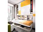 Seinäsänky 90x190 cm, liukuovikaapilla ja pöydällä EX-111746