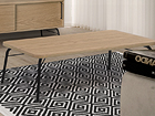 Sohvapöytä ASHBURN COFFEE TABLE OAK-BLACK 125x65 cm WO-112877