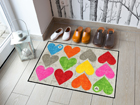 Matto COLOURFUL HEARTS 50x75 cm A5-113339