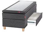 SLEEPWELL BLACK jenkkisänky vuodevaatelaatikolla 80x200 cm SW-113747