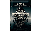 Retro metallijuliste HARLEY-DAVIDSON THINGS ARE DIFFERENT ON A HARLEY 20x30 cm SG-114851