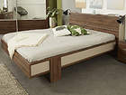 Sänky+päätylaatikko BRERA walnut 160x200 cm MA-115453