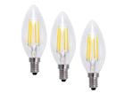 LED lamppu-kynttilä 4W, 3 kpl EW-115893