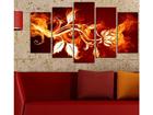 Viisiosainen seinätaulu FLOWER POWER III, 100x60 cm ED-116553