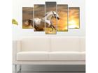 Viisiosainen seinätaulu HORSE III, 100x60 cm ED-116577