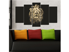 Viisiosainen seinätaulu BIG CAT 100x60 cm ED-116630