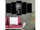 Viisiosainen seinätaulu BIG CAT I, 100x60 cm ED-116631