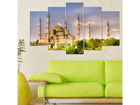 Viisiosainen seinätaulu MOSQUE 100x60 cm