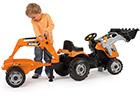 Traktori, kärry ja kauha SMOBY BUILER MAX RO-116818