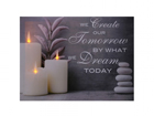 LED taulu SLOGAN & CANDLES 30x40 cm ED-117168