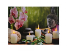 LED taulu BUDDHA WITH CANDLES & ORCHIDS 30x40 cm ED-117171