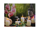 LED taulu BUDDHA WITH CANDLES & ORCHIDS 50x70 cm ED-117172