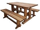 Puutarhapöytä ja penkit 200 cm MP-117267
