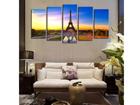 Viisiosainen seinätaulu EIFFEL TOWER I 160x80 cm ED-117469