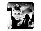 Retro lasinalustat BREAKFAST AT TIFFANY'S AUDREY, 4 kpl SG-118278