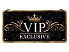 Retro metallijuliste VIP EXCLUSIVE 10x20 cm SG-118291