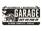 Retro metallijuliste GARAGE 10x20 cm SG-118407