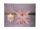 LED taulu CANDLES & ROSE BLOSSOM 30x40 ED-118523