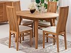Tammi jatkettava ruokapöytä BASEL  + 4 tuolia SANDRA