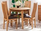 Tammi jatkettava ruokapöytä BASEL + 4 tuolia SANDRA EC-119699