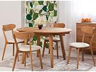 Tammi jatkettava ruokapöytä BASEL + 4 tuolia IRMA EC-119700